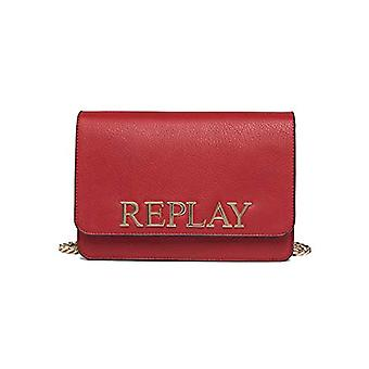 REPLAY Fw3788,000.a0132d - Red Women's shoulder bags (Gloss Red) 7x17x25 cm (W x H L)