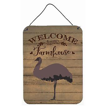 Carolines Treasures  CK6866DS1216 Emu Welcome Wall or Door Hanging Prints