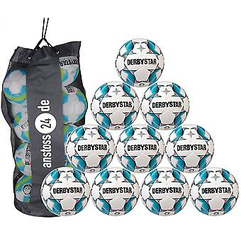 10 x DERBY STAR youth ball - brilliant S-LIGHT dual bonded includes ball sack