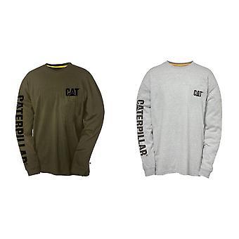 Caterpillar Mens Trademark Banner Long Sleeve T-Shirt