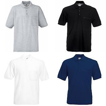 Frukten av vävstol Mens Pocket 65/35 Pique © kort ärm Polo Shirt