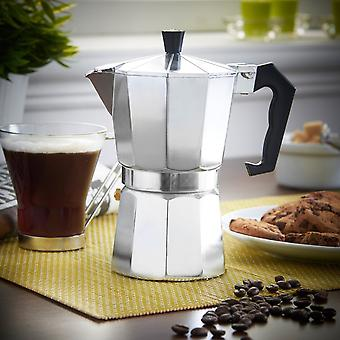 Aluminium Coffee Pot Moka For 3 Cups  For Italian-style Espresso Coffee