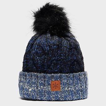 Neue Alpine Damen Gem Winter tragen warme Bobble Beanie Bluemoon