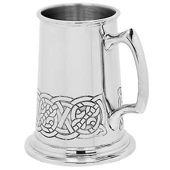 Celtic Tor nehéz Gauge Pewter Tankard-1 pint +