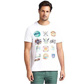 Tee shirt coton imprimé  -  Guess jeans