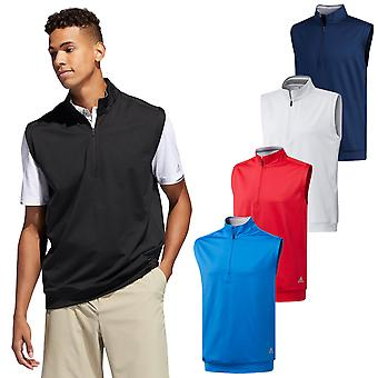 adidas Golf Hombres 2020 Classic Club Sin Mangas Stretch 1/4 Zip Vest