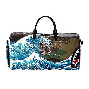 Sprayground Camokawa Wave Shark Duffle Bag