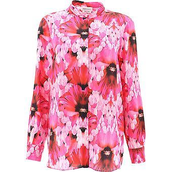 Alexander Mcqueen 610772qcabe5033 Kvinder's Pink Silk Shirt
