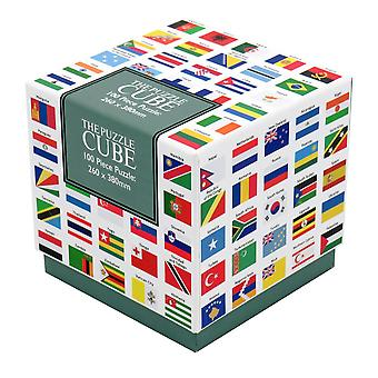 Flags of the World Jigsaw Puzzle 100 Piece Puzzle Cube