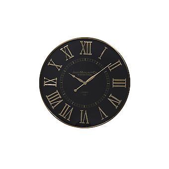 Light & Living Clock 76x5cm Totara Black-Bronze