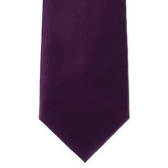 Michelsons di Londra pianura costola poliestere cravatta - viola scuro