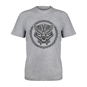 Marvel Black Panther Tribal Pattern Masque Hommes-apos;s T-Shirt (fr) Marchandises officielles