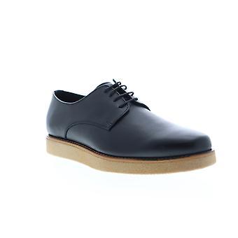 Zanzara Kurt  Mens Black Leather Casual Lace Up Oxfords Shoes