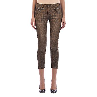 R13 R13w0087188 Women's Leopard Cotton Jeans