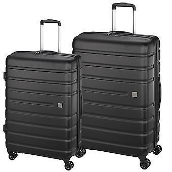 d&n Travel Line 2200 Suitcase Set 2-delige 4 wielen, zwart