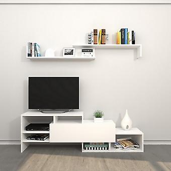 Porta de TV móvel Phoenix Color White em Chip Melaminic 150x27x45 cm, 150x14x16 cm