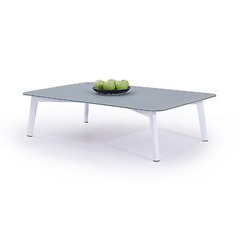 Alu table Diva 118 cm - blanc