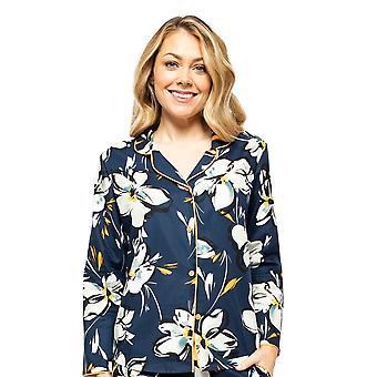 Cyberjammies Alexa 4499 Femmes-apos;s Navy Blue Floral Print Pyjama Top