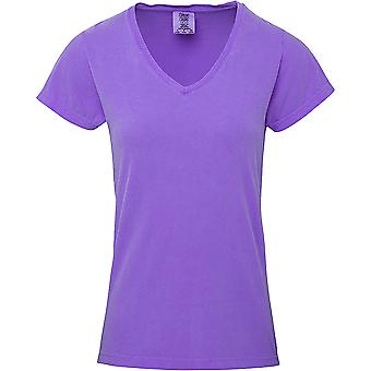 Comfort Colors Womens/Ladies V Neck Short Sleeve T-Shirt