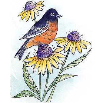Scrapping Cottage Oriole with Blossoms