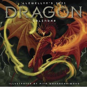 Llewellyns 2021 Dragon Kalender door Piya Wannachaiwong