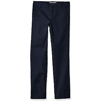 Essentials Girl's Slim Uniform Chino Pants, Navy Blue, 10(S)