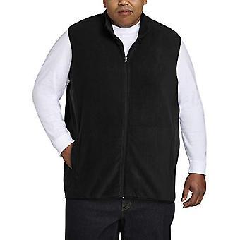 Essentials Men's Big and Tall Full-Zip Polar Fleece Vest sopii DXL, Black, 4XLT