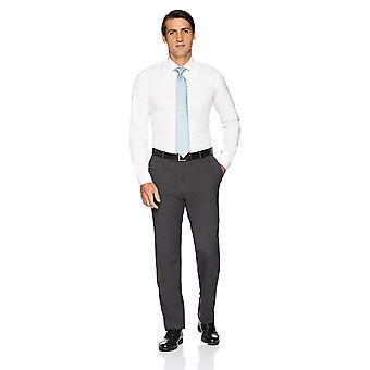BUTTONED DOWN Miehet's Slim Fit Stretch Poplin Ei-rauta mekko paita, valkoinen, 17,5 ...