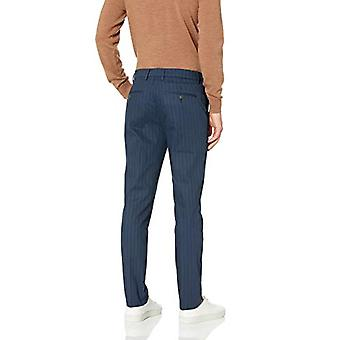 Brand - Goodthreads Men's Skinny-Fit Wrinkle Free Dress Chino Pant, Navy Pinstripe, 42W x 29L