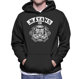 Mayans M.C. Motorcycle Club Face White Logo Emblem Men's Hooded Sweatshirt