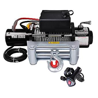 Yescom Electric Recovery Winch 8000lbs 5.5HP 12V Remote Switch Truck Trailer Towing ATV SUV Jeep Off Road Pulling Tool