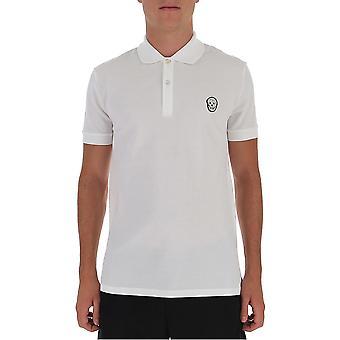 Alexander Mcqueen 622106qpx339000 Men's White Cotton Polo Shirt