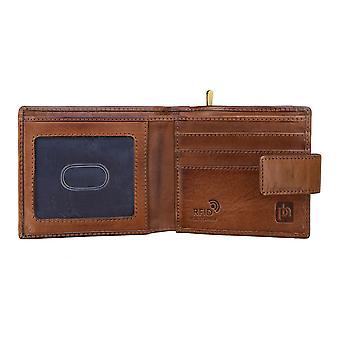 Primehide Mens Portefeuille en cuir RFID Bloquant grande pièce de monnaie Poche Gent Notecase 6424