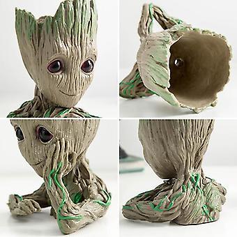 Strongwell Baby Groot Blomkruka Blomkruka Planter Figurines Tree Man Söt
