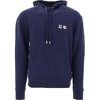 Maison Kitsuné Eu00353km0001navy Men's Blue Cotton Sweatshirt