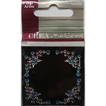 蓝色透明水晶装饰边框由阿托兹