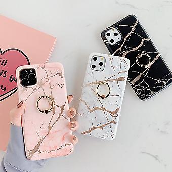 Mobile case for iPhone 11 Pro in luxurious marble pattern + ring