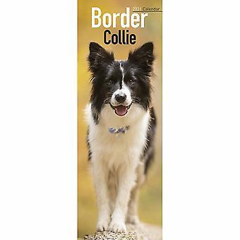 Otter House 2021 Slim Calendar-border Collie