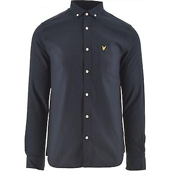 Lyle & Scott Dark Navy Regular Fit Kevyt Oxford-paita