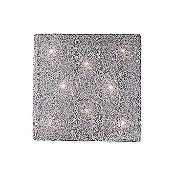 Ihanteellinen Lux Quadro - 8 kevyt sisäaukio pieni huuhtelu vaalea verkko kromi, G9