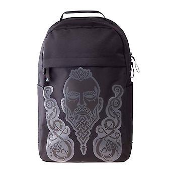 Assassins Creed Valhalla Back Pack Bag puff Print Embossed Logo Official Black