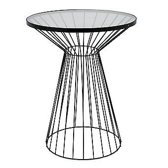 Table metal/glass Black 55 cm