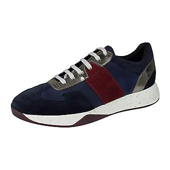 Geox D Suzzie B Womens Casual Slip on Trainers / Shoes - Navy