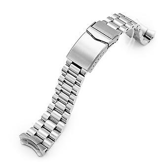 Bracelet de montre strapcode 22mm endmill 316l bracelet en acier inoxydable pour seiko 5, brossé v-fermoir