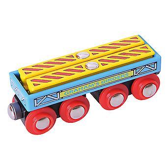 Bigjigs السكك الحديدية غراهام و apos;ق عربة عارضة