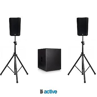"Big gig rig 47 - compact active pa system 1200w rms 8"" tops and 15"" sub with bluetooth"