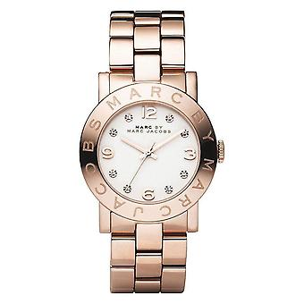 Marc By Marc Jacobs Amy Ladies Watch - MBM3077 - White/Rose Gold