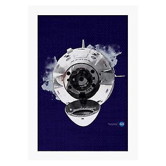 NASA SpaceXドラゴンカプセルドッキングA4プリント