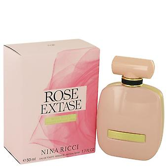 Rose extase eau de toilette sensuelle spray por nina ricci 538757 50 ml