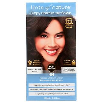 Tints of Nature Permanent Hair Color, 4N Natural Medium Brown 4.4 Oz